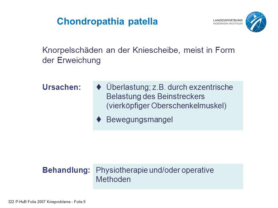 Chondropathia patella