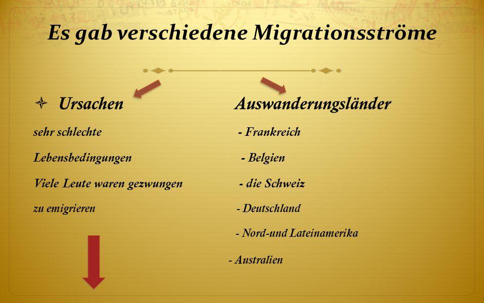 Es gab verschiedene Migrationsströme