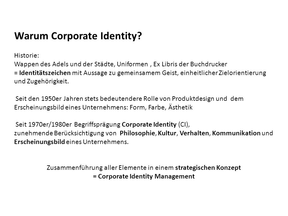 Warum Corporate Identity
