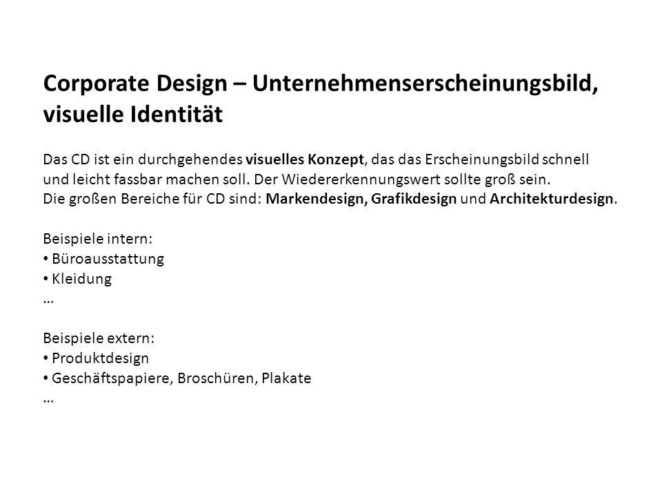 Corporate Design – Unternehmenserscheinungsbild, visuelle Identität