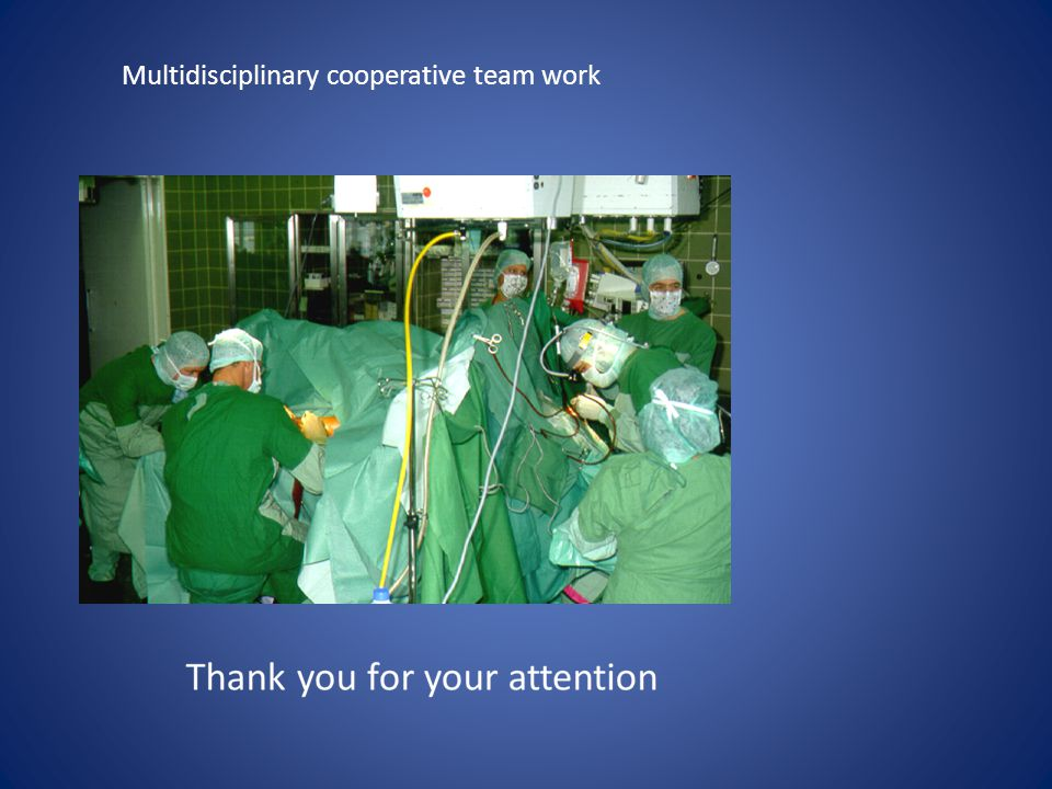 Multidisciplinary cooperative team work