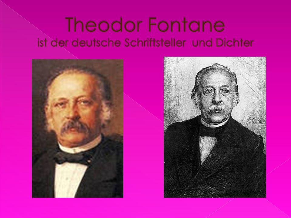 Theodor Fontane ist der deutsche Schriftsteller und Dichter
