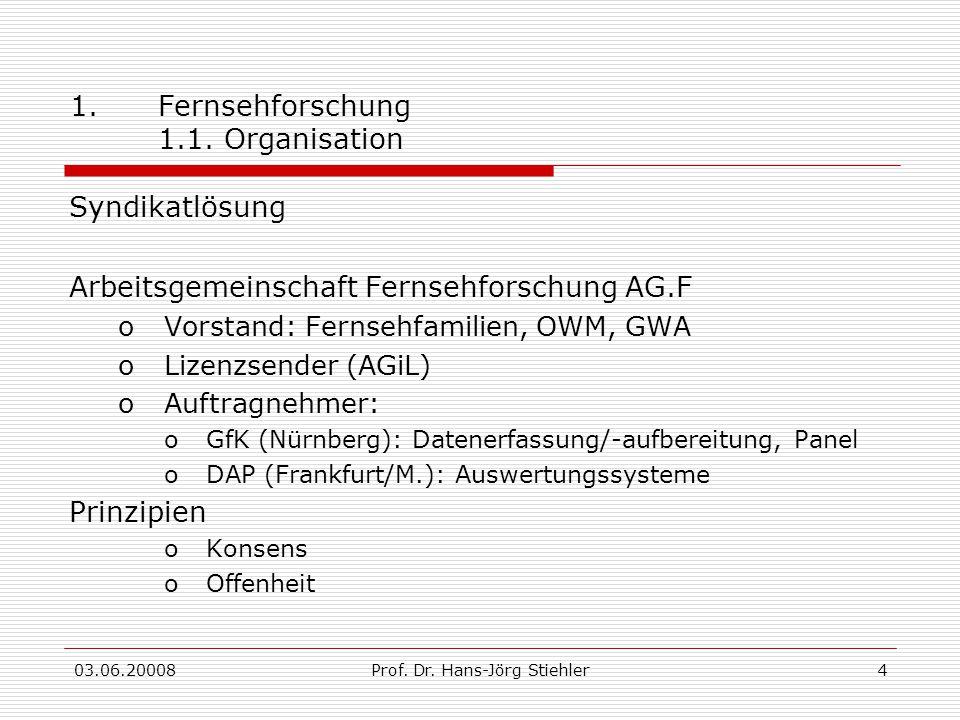 Fernsehforschung 1.1. Organisation