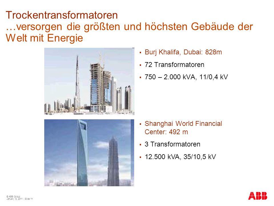 Trockentransformatoren …versorgen die größten und höchsten Gebäude der Welt mit Energie