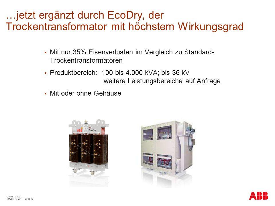 …jetzt ergänzt durch EcoDry, der Trockentransformator mit höchstem Wirkungsgrad
