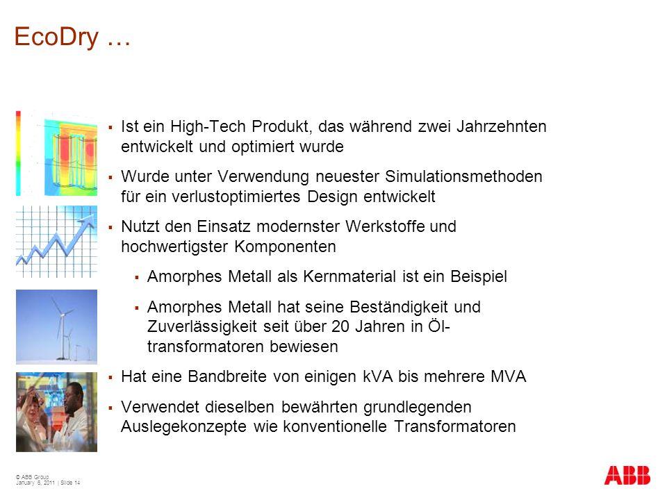 EcoDry … Ist ein High-Tech Produkt, das während zwei Jahrzehnten entwickelt und optimiert wurde.