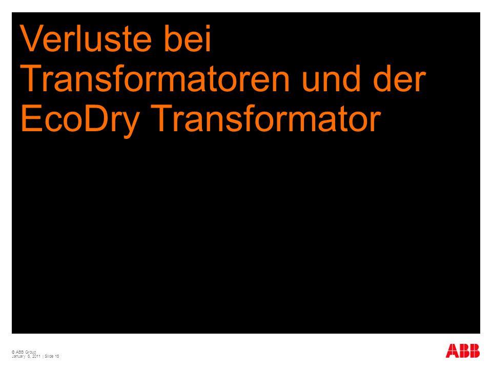 Verluste bei Transformatoren und der EcoDry Transformator