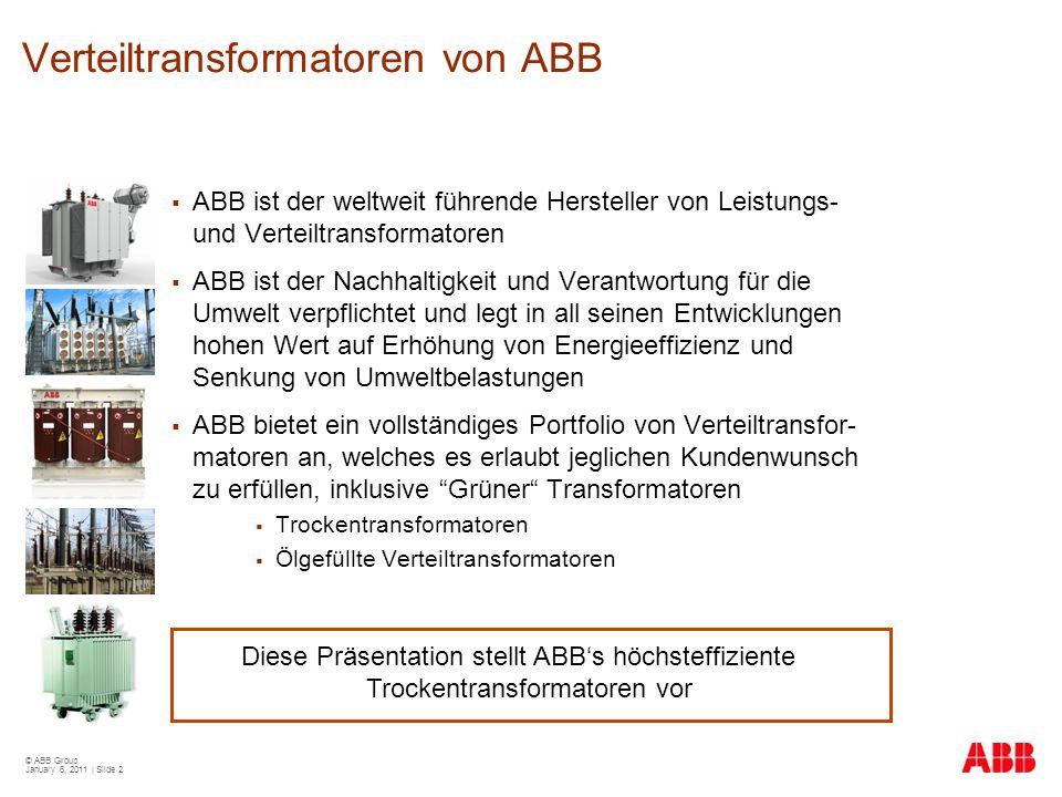 Verteiltransformatoren von ABB