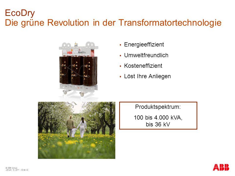 EcoDry Die grüne Revolution in der Transformatortechnologie