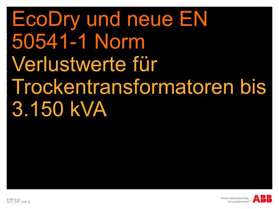 EcoDry und neue EN 50541-1 Norm Verlustwerte für Trockentransformatoren bis 3.150 kVA