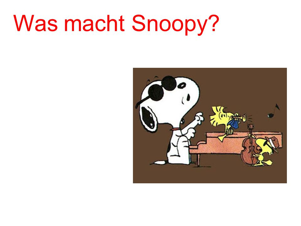 Was macht Snoopy