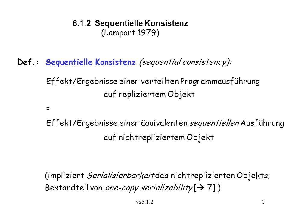 6.1.2 Sequentielle Konsistenz