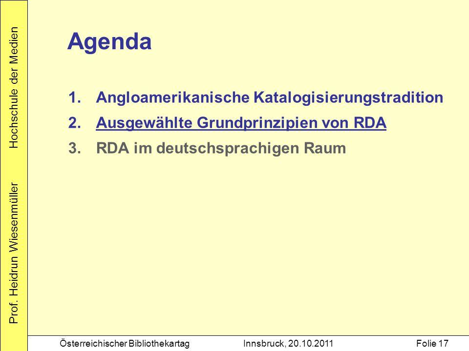Agenda Angloamerikanische Katalogisierungstradition