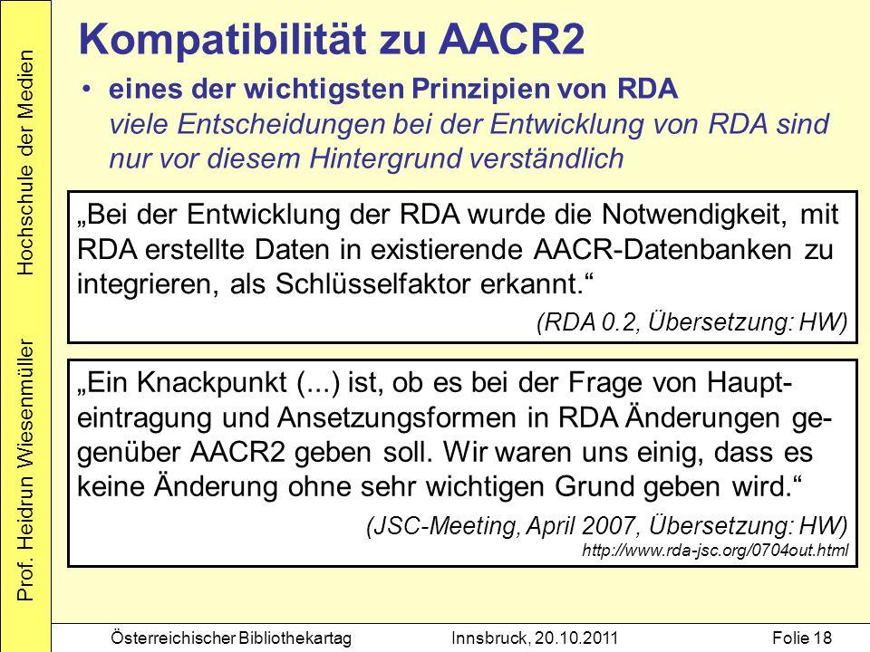 Kompatibilität zu AACR2