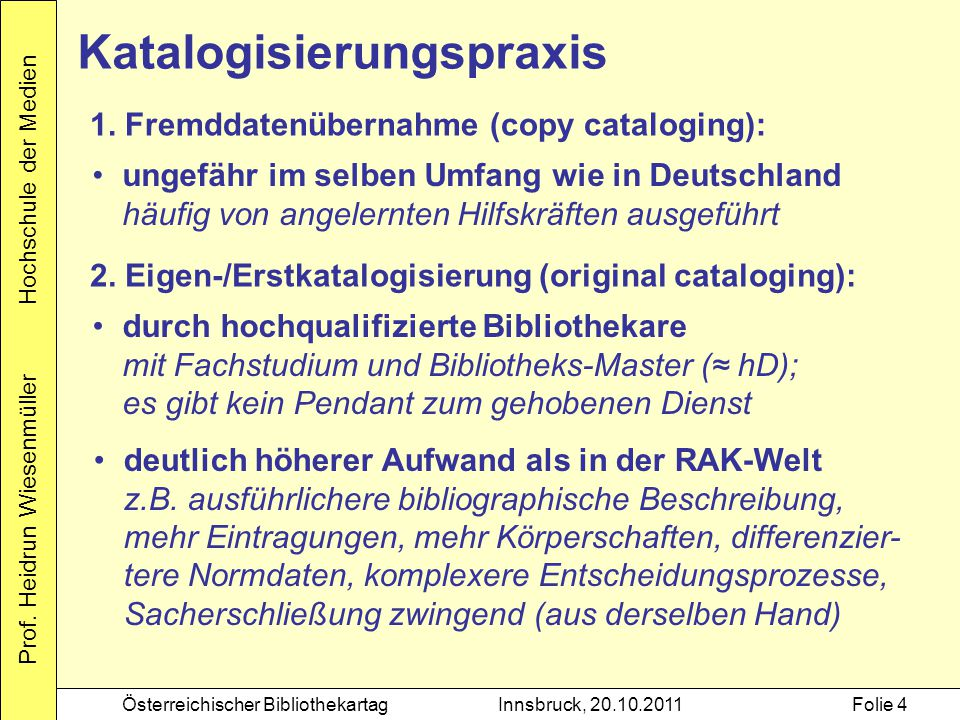 Katalogisierungspraxis