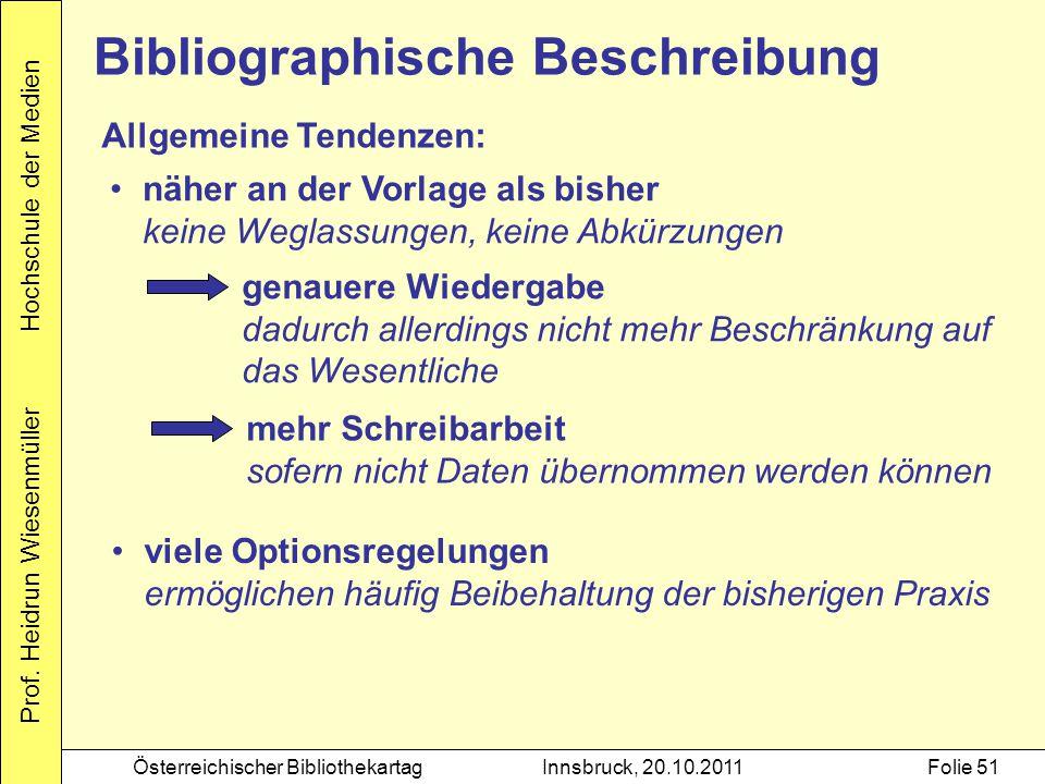 Bibliographische Beschreibung