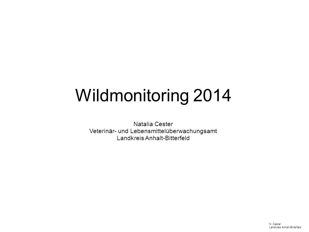 Wildmonitoring 2014 Natalia Cester Veterinär- und Lebensmittelüberwachungsamt Landkreis Anhalt-Bitterfeld