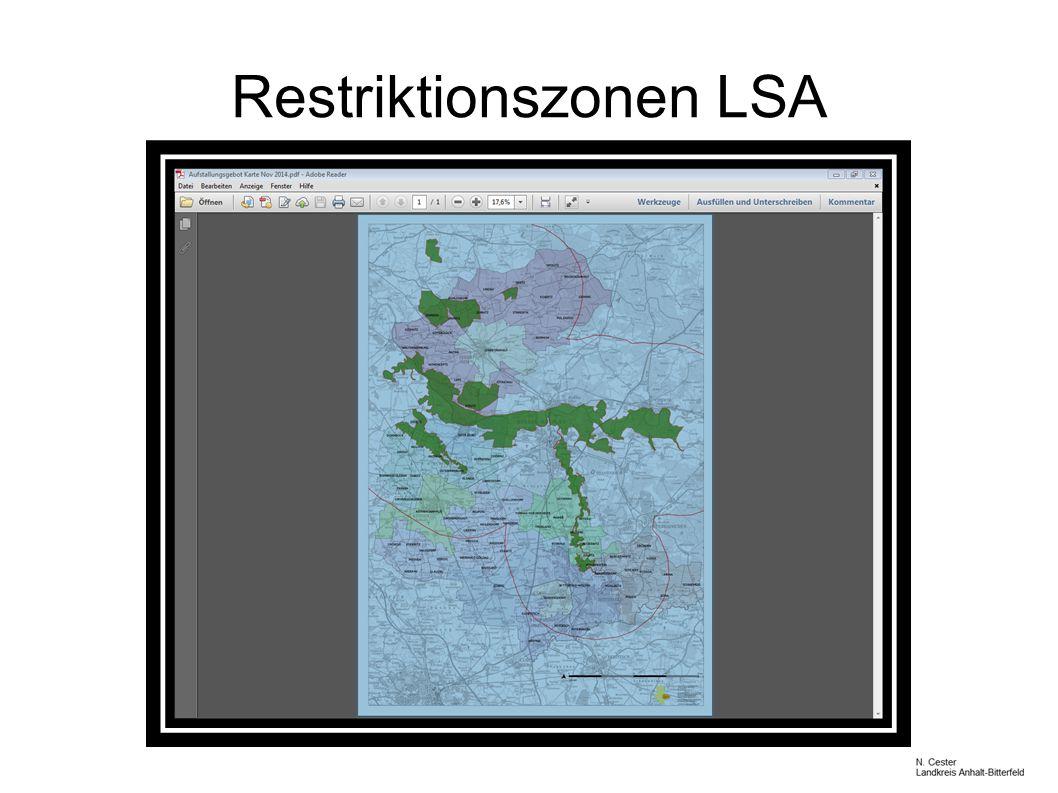 Restriktionszonen LSA