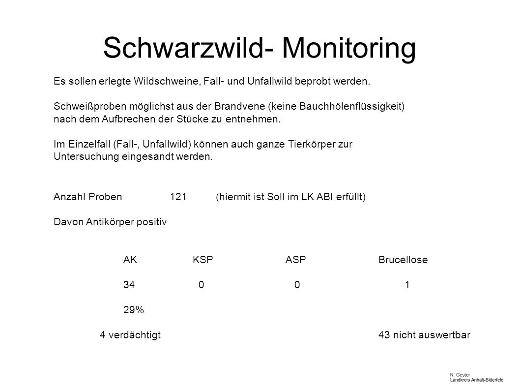 Schwarzwild- Monitoring