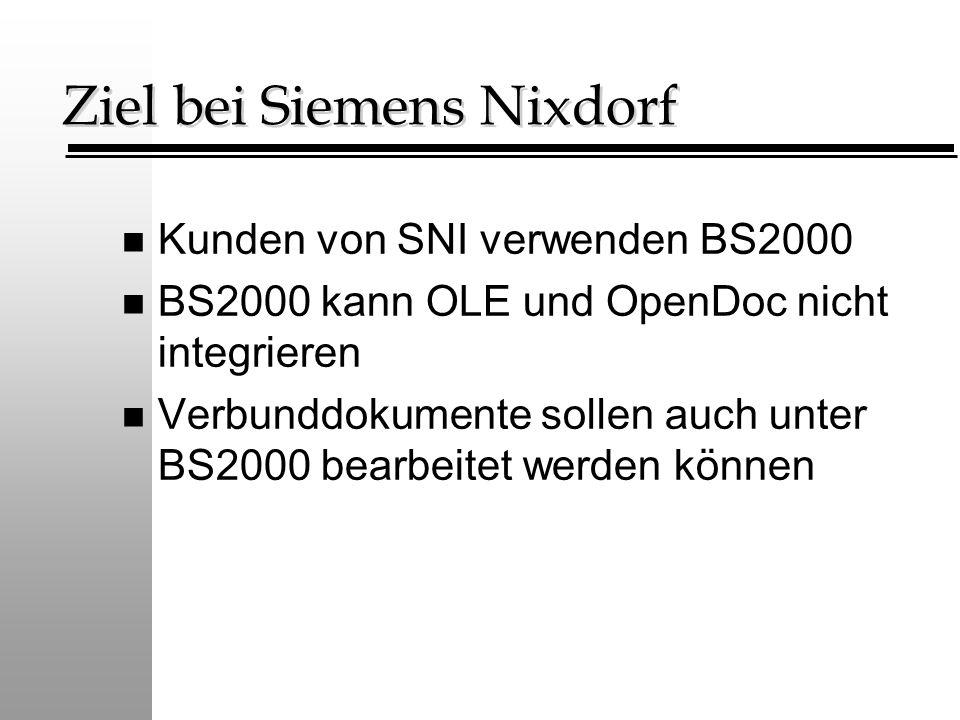 Ziel bei Siemens Nixdorf