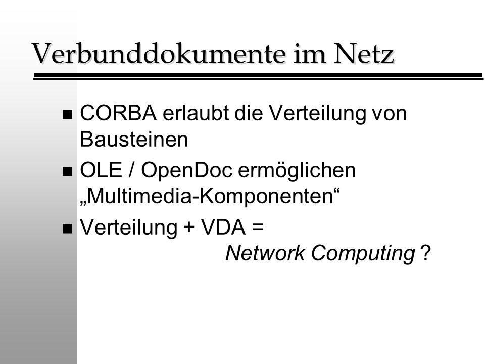 Verbunddokumente im Netz