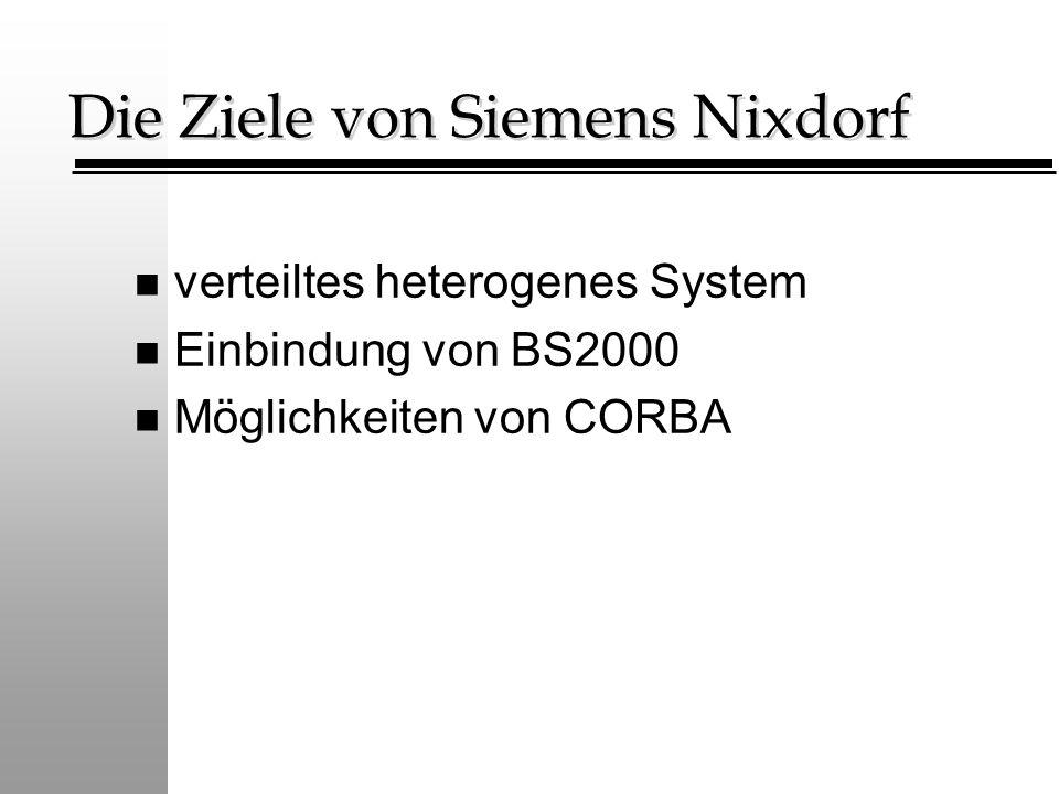 Die Ziele von Siemens Nixdorf