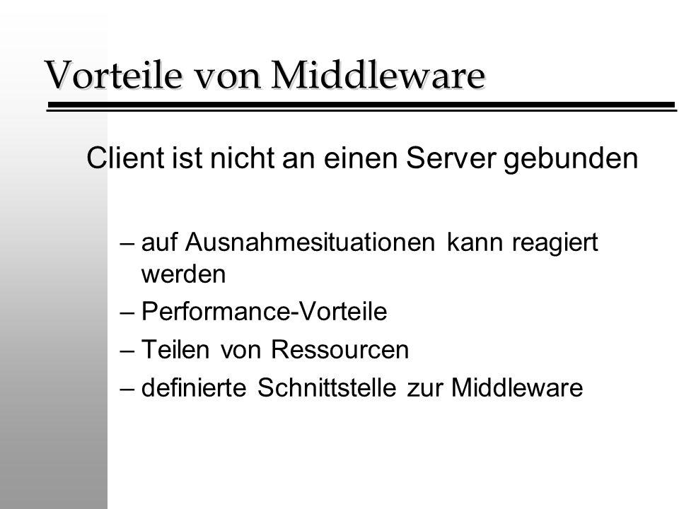 Vorteile von Middleware
