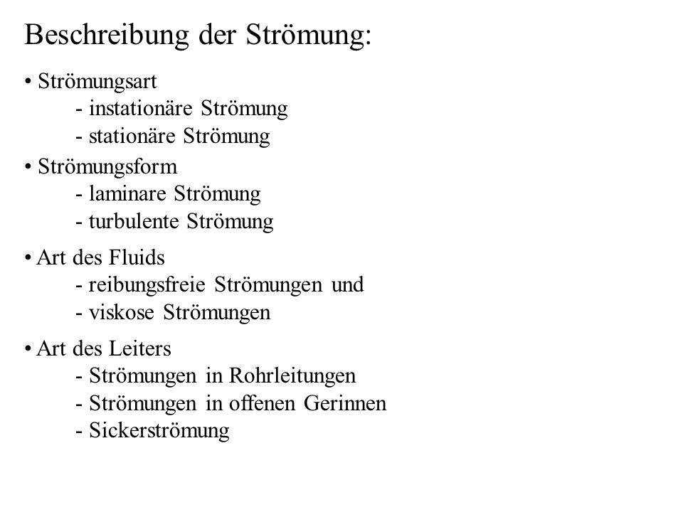Beschreibung der Strömung: