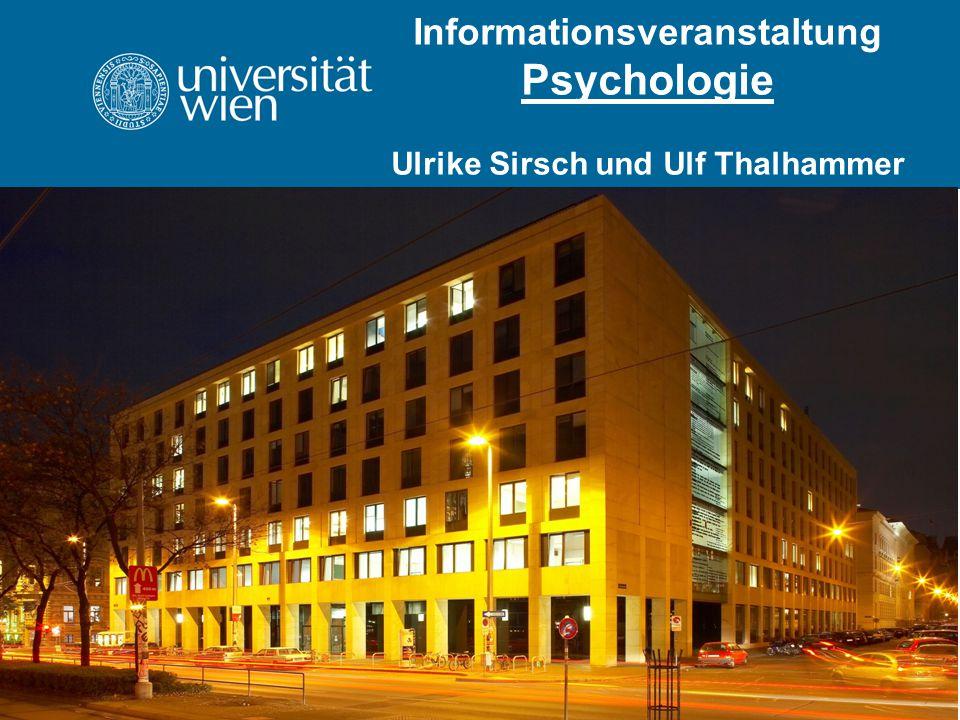 Informationsveranstaltung Psychologie Ulrike Sirsch und Ulf Thalhammer