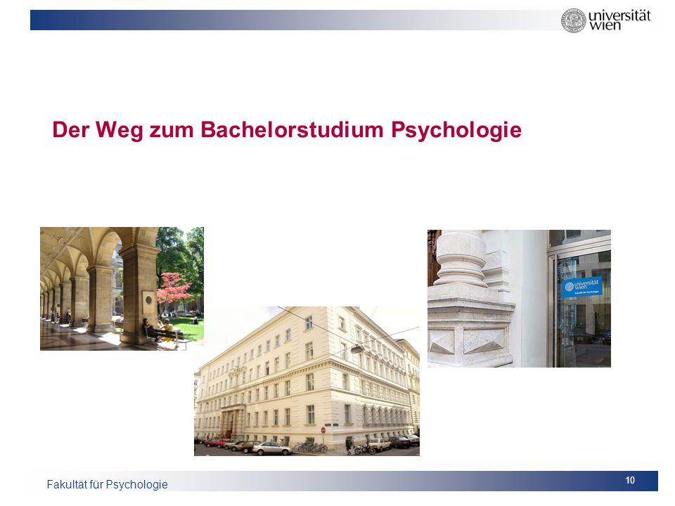 Der Weg zum Bachelorstudium Psychologie