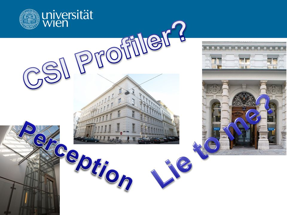 CSI Profiler Lie to me Perception