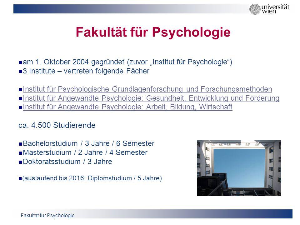 Fakultät für Psychologie