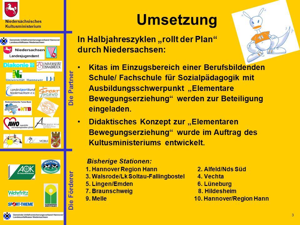 """Umsetzung In Halbjahreszyklen """"rollt der Plan durch Niedersachsen:"""