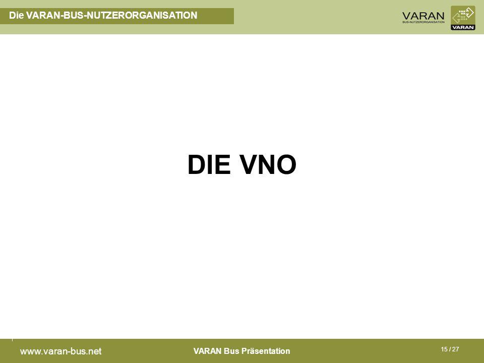 Die VARAN-BUS-NUTZERORGANISATION