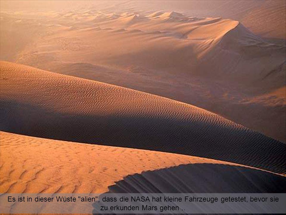 Es ist in dieser Wüste alien , dass die NASA hat kleine Fahrzeuge getestet, bevor sie zu erkunden Mars gehen ..
