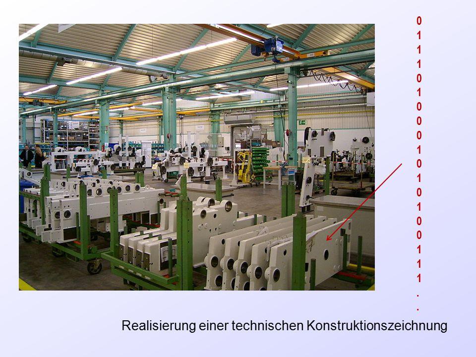 Realisierung einer technischen Konstruktionszeichnung