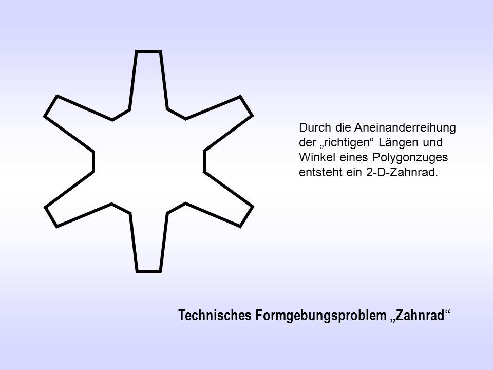 """Technisches Formgebungsproblem """"Zahnrad"""
