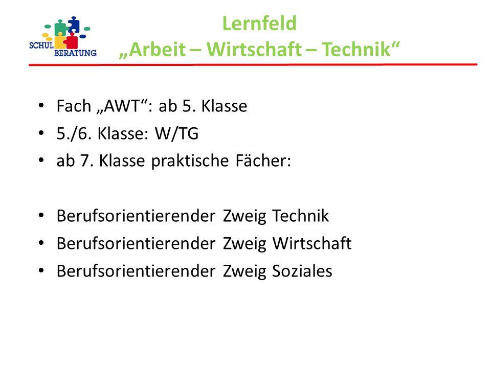 """Lernfeld """"Arbeit – Wirtschaft – Technik"""