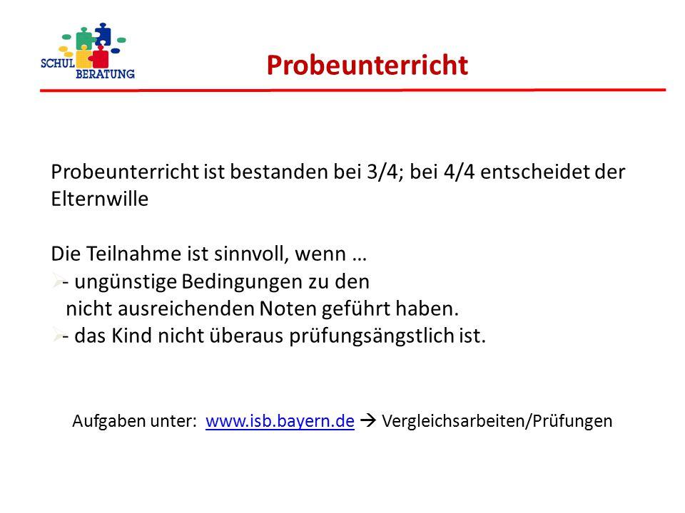 Aufgaben unter: www.isb.bayern.de  Vergleichsarbeiten/Prüfungen