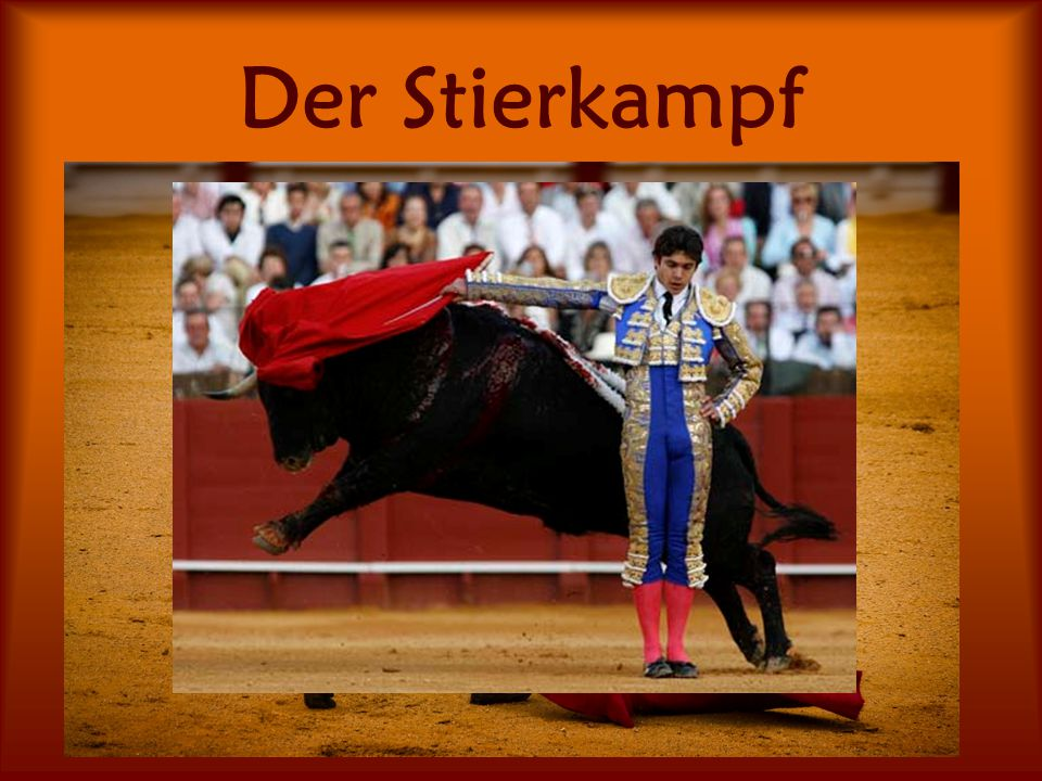 Der Stierkampf Hier tritt ein Mensch, der Torero, gegen einen Stier an