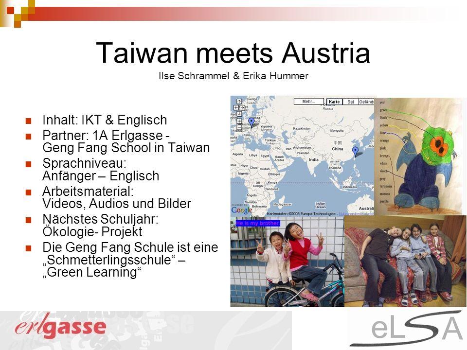 Taiwan meets Austria Ilse Schrammel & Erika Hummer