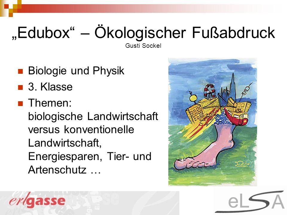 """""""Edubox – Ökologischer Fußabdruck Gusti Sockel"""