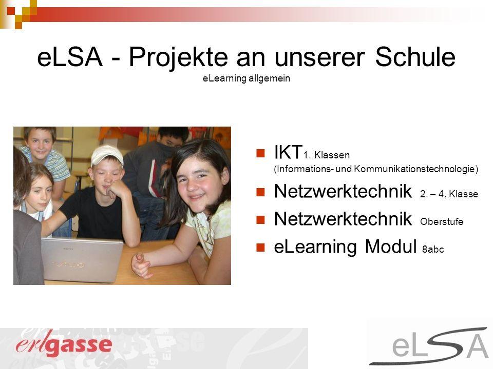 eLSA - Projekte an unserer Schule eLearning allgemein