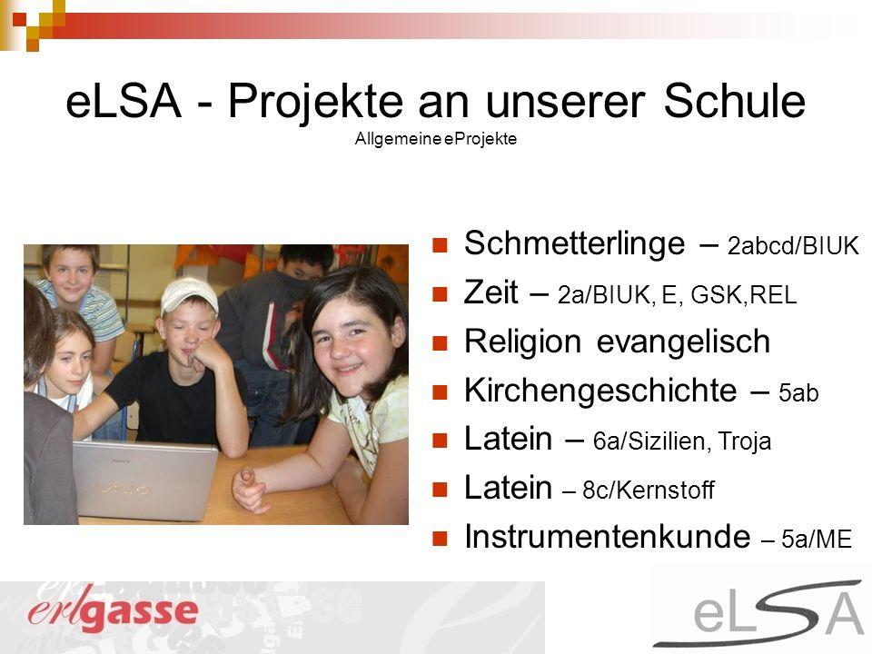 eLSA - Projekte an unserer Schule Allgemeine eProjekte