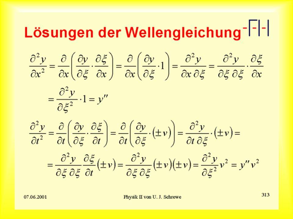 Lösungen der Wellengleichung