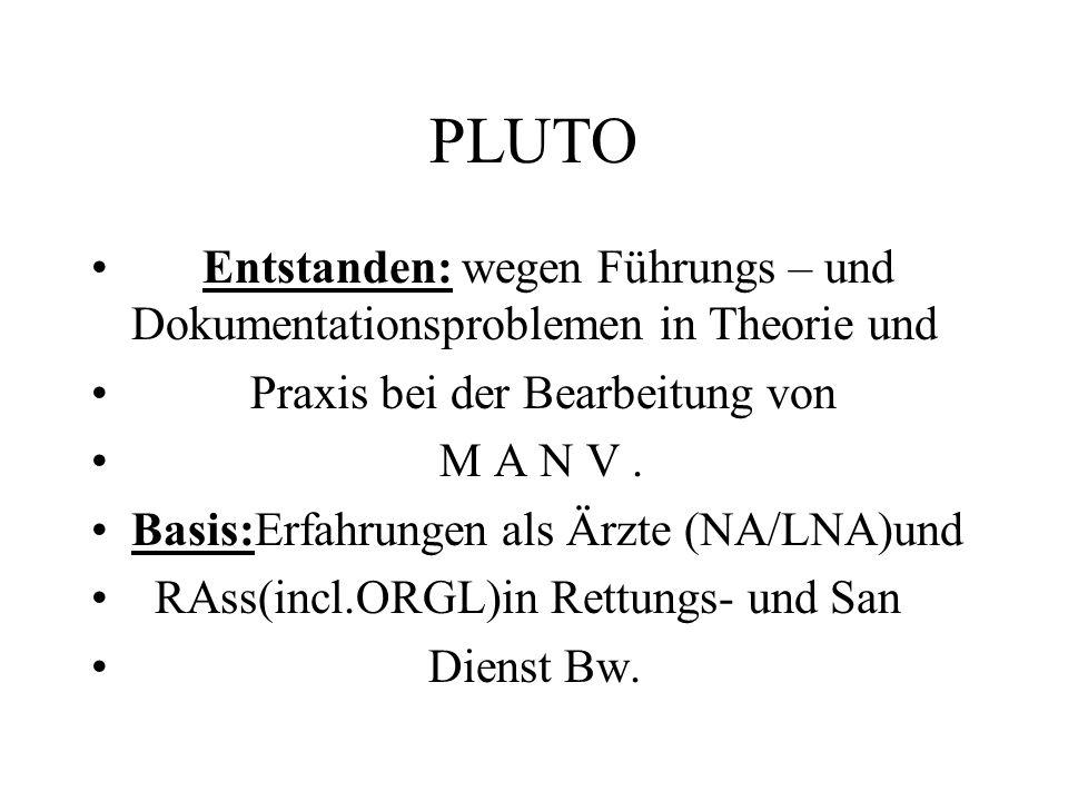 PLUTO Entstanden: wegen Führungs – und Dokumentationsproblemen in Theorie und. Praxis bei der Bearbeitung von.
