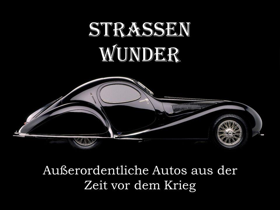 Außerordentliche Autos aus der Zeit vor dem Krieg