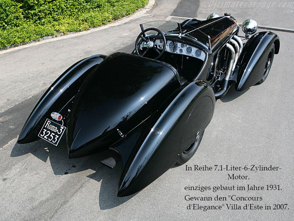 In Reihe 7,1-Liter-6-Zylinder-Motor. einziges gebaut im Jahre 1931.