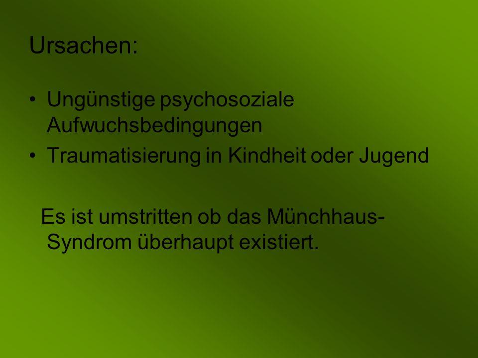 Ursachen: Ungünstige psychosoziale Aufwuchsbedingungen