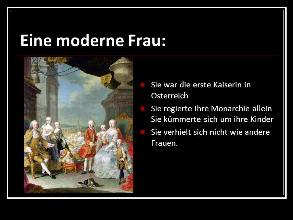 Eine moderne Frau: Sie war die erste Kaiserin in Osterreich